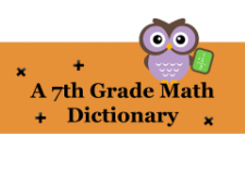 math vocabulary dictionary 7th grade